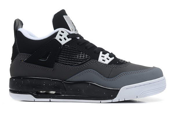 Womens Air Jordan 4 (IV) Retro Shoes black/gray white